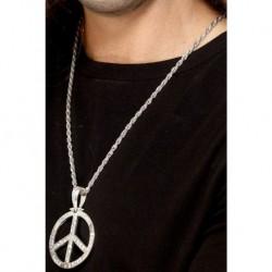 60s Peace Sign Hippie Medallion